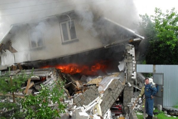 Газовый баллон взорвался в Ульяновской области