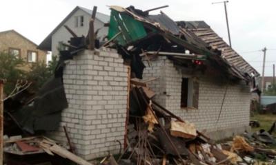 В Липецке взрыв газового баллона разрушил частный дом